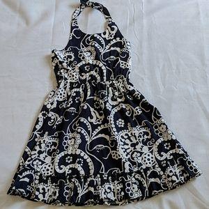Gymboree Open Shoulder Floral Dress Navy size 8